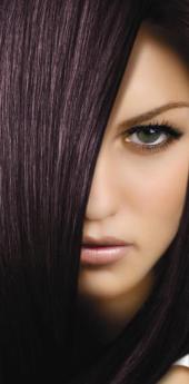 Гель- краска для волос баклажан