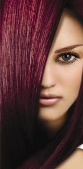 Гель- краска для волос вишня