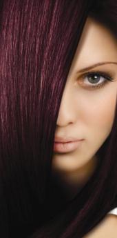 Гель- краска для волос темный махагон